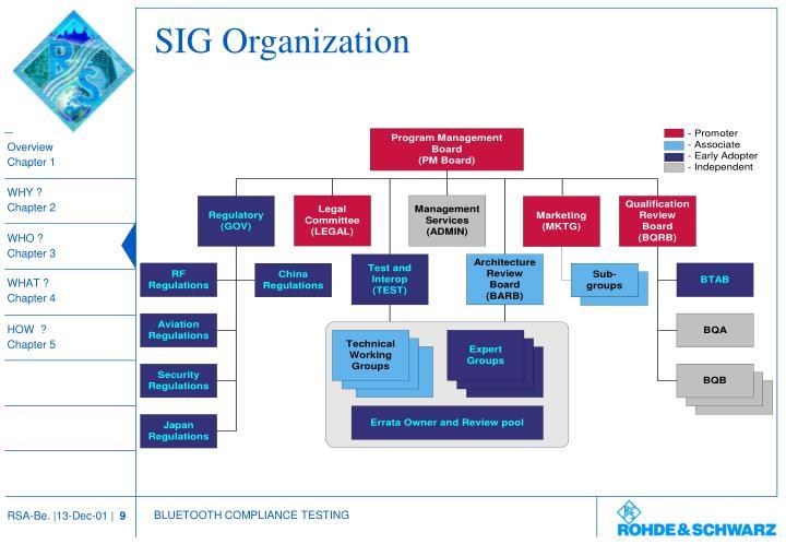SIG Organization
