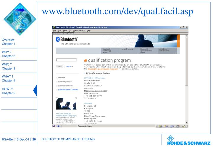 www.bluetooth.com/dev/qual.facil.asp