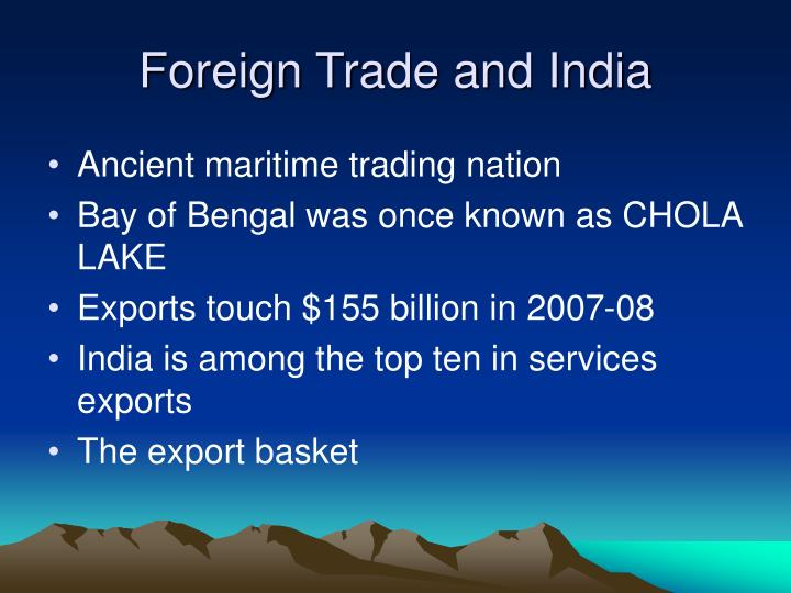 foreign trade and india n.