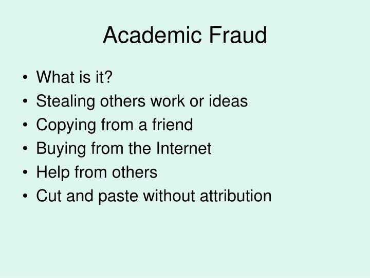 Academic Fraud