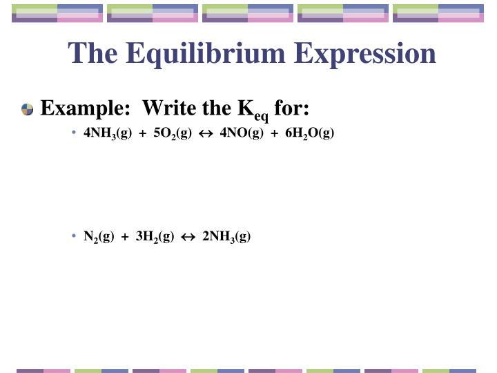 The Equilibrium Expression