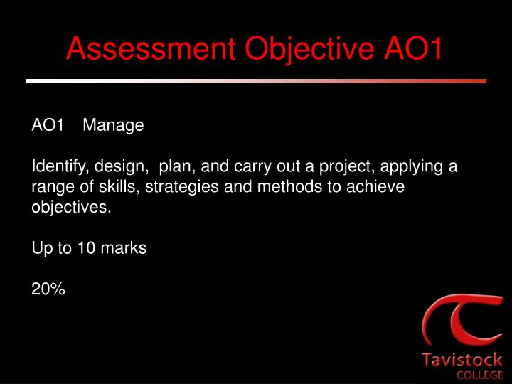 Assessment Objective AO1