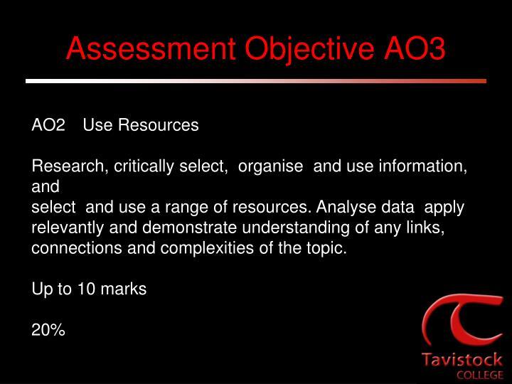 Assessment Objective AO3