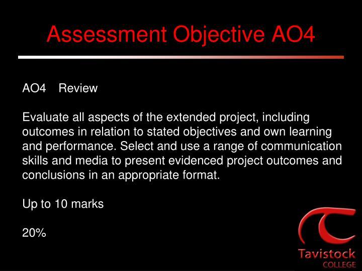 Assessment Objective AO4
