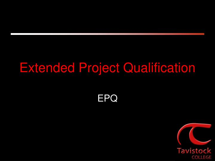 Extended project qualification