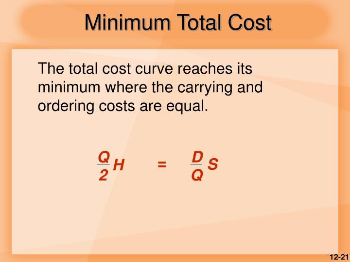 Minimum Total Cost