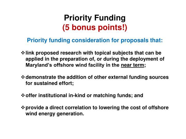 Priority Funding