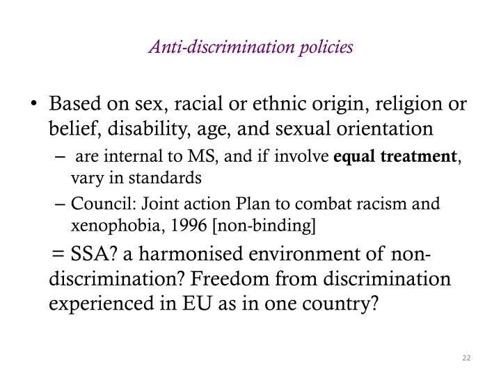 Anti-discrimination policies