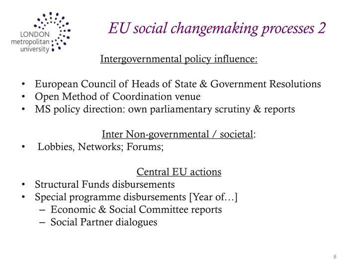 EU social changemaking processes 2