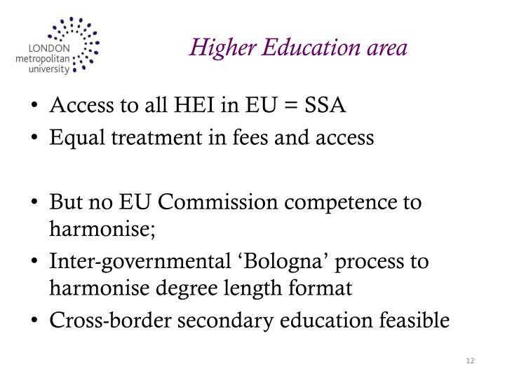 Higher Education area