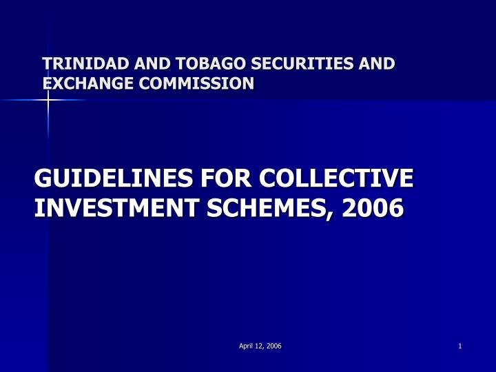 trinidad and tobago securities and exchange commission n.