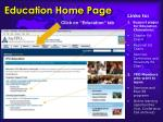 education home page