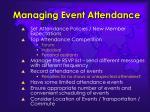 managing event attendance