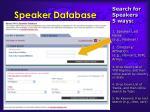 speaker database