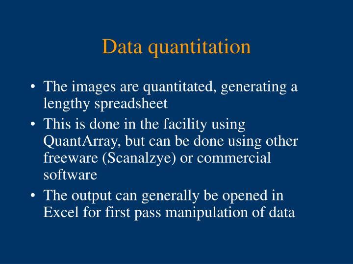 Data quantitation