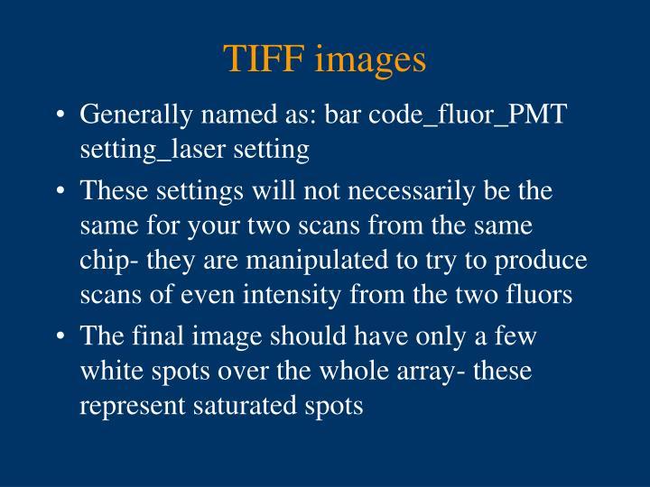 TIFF images