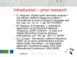 introduction prior research