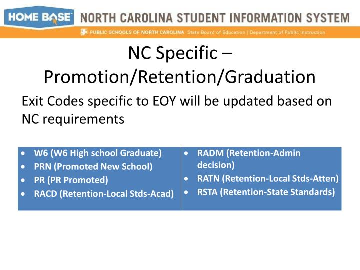 NC Specific –