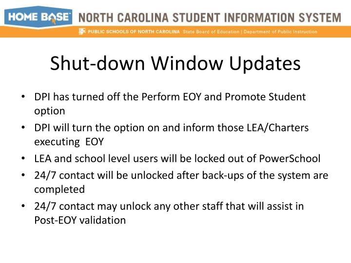 Shut-down Window Updates