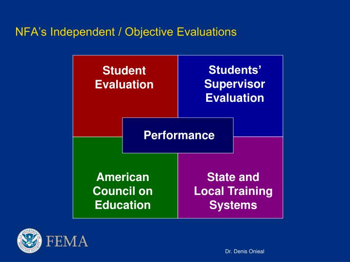 NFA's Independent / Objective Evaluations