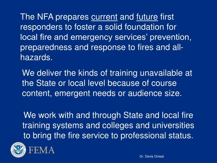 The NFA prepares
