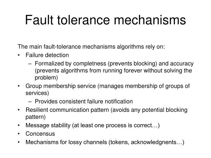 Fault tolerance mechanisms