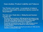 case studies product liability and tobacco