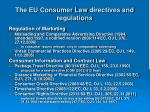 the eu consumer law directives and regulations