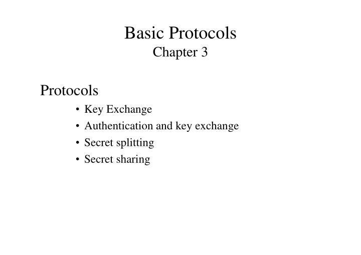 Basic Protocols