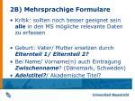 2b mehrsprachige formulare