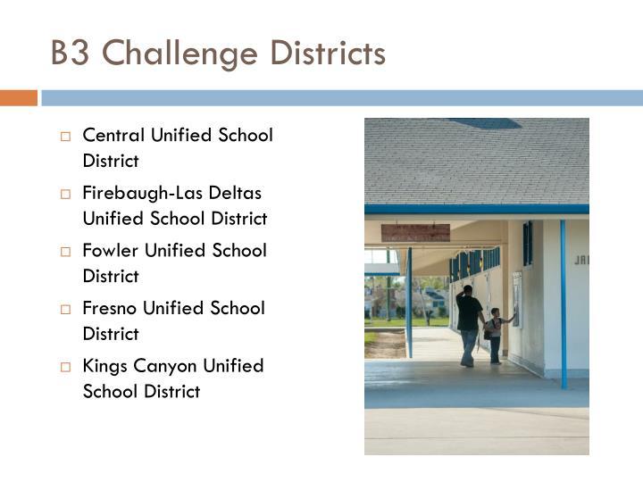 B3 Challenge Districts