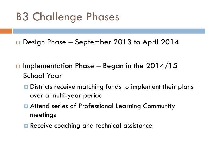 B3 Challenge Phases
