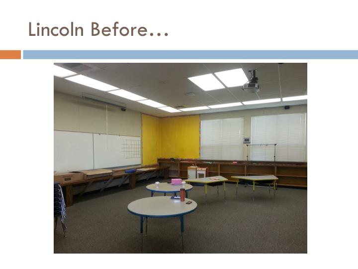 Lincoln Before…