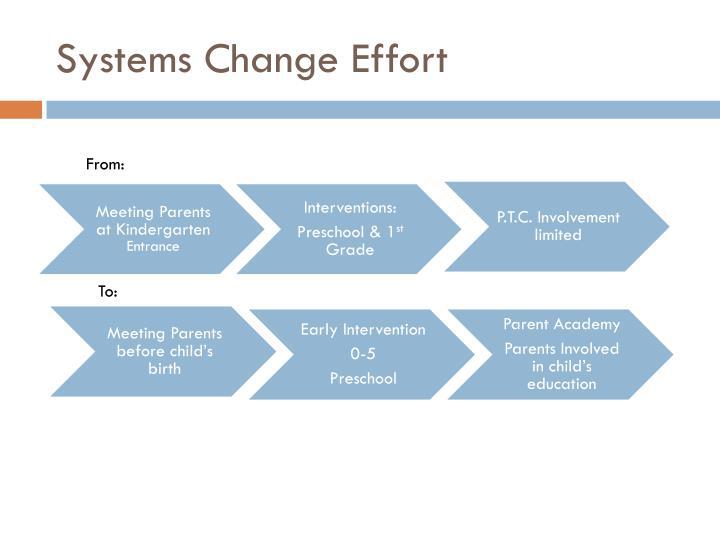 Systems Change Effort