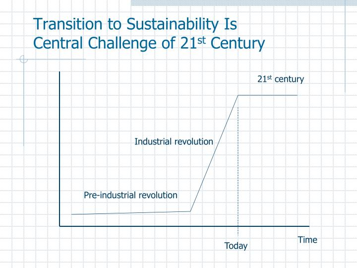 Transition to Sustainability Is