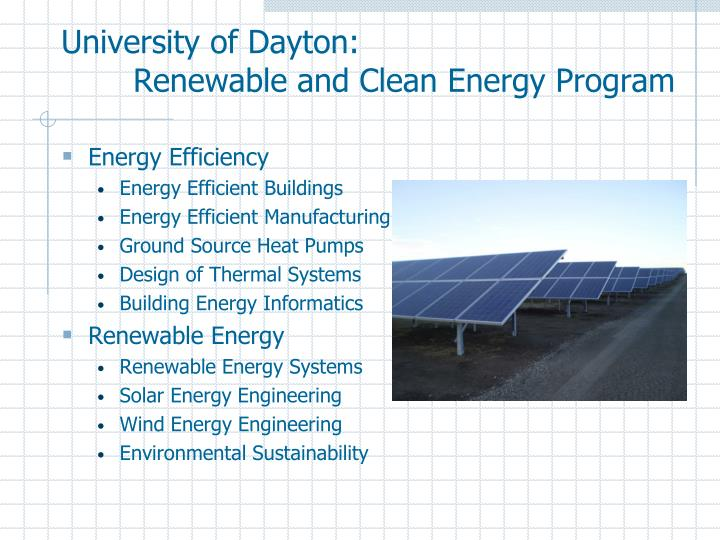 University of Dayton:
