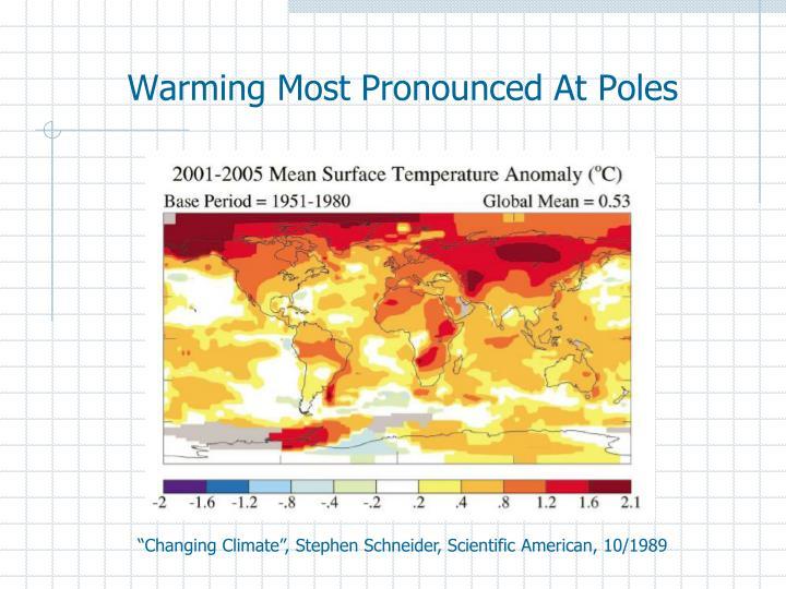 Warming Most Pronounced At Poles