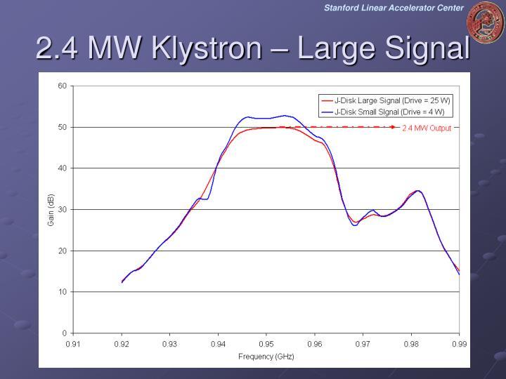 2.4 MW Klystron – Large Signal