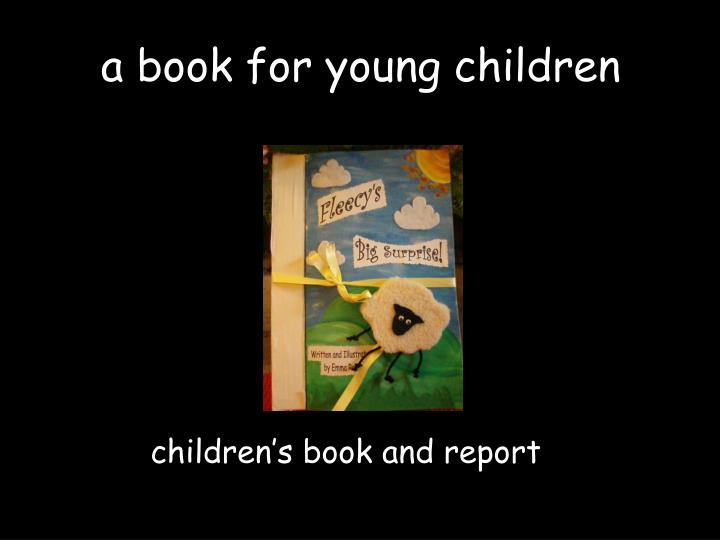 a book for young children