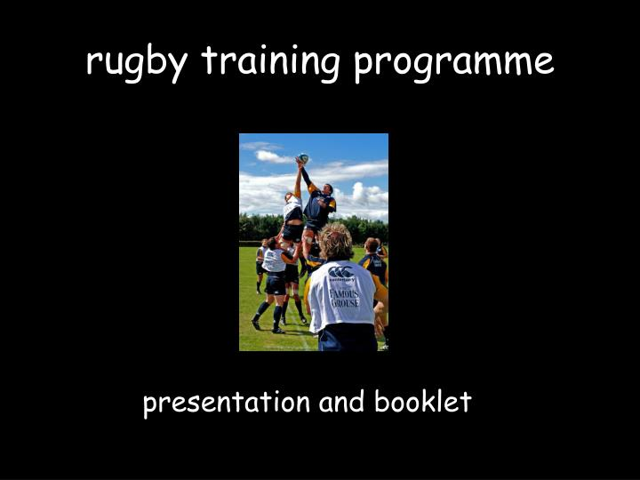 rugby training programme
