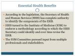 essential health benefits1
