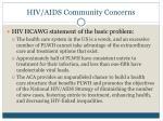hiv aids community concerns1