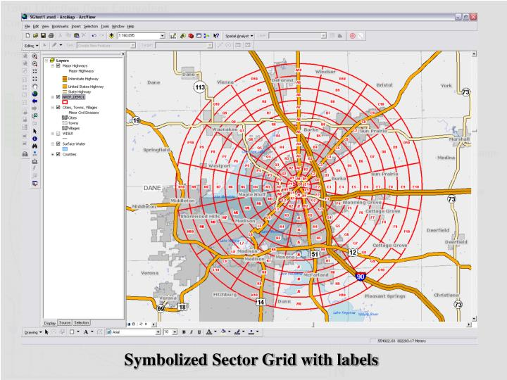 Symbolized Sector Grid with labels
