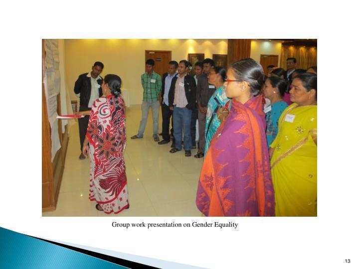 Group work presentation on Gender Equality