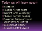 today we will learn about3