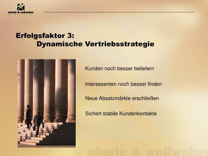 Erfolgsfaktor 3: Dynamische Vertriebsstrategie