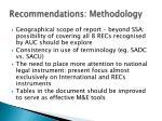 recommendations methodology