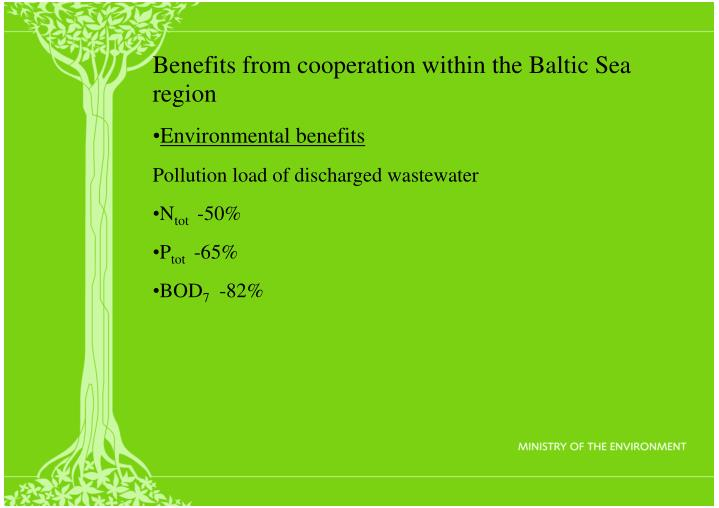 Benefits from cooperation within the Baltic Sea region