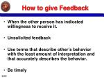 how to give feedback