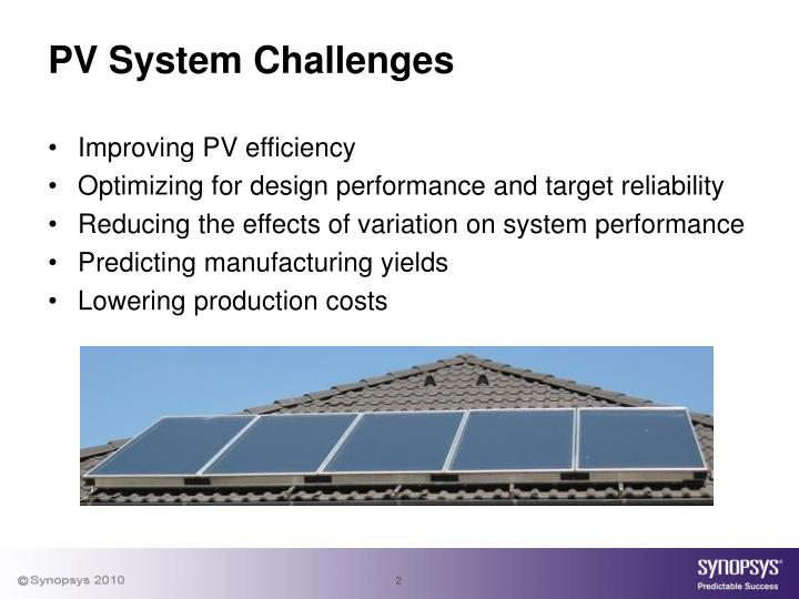 Pv system challenges